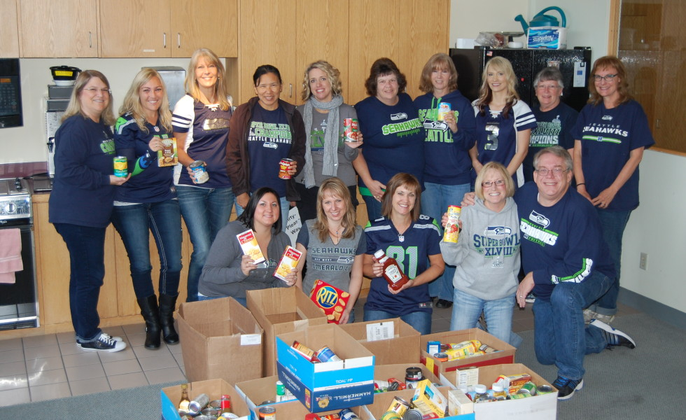 First Federal employees with food bank collections